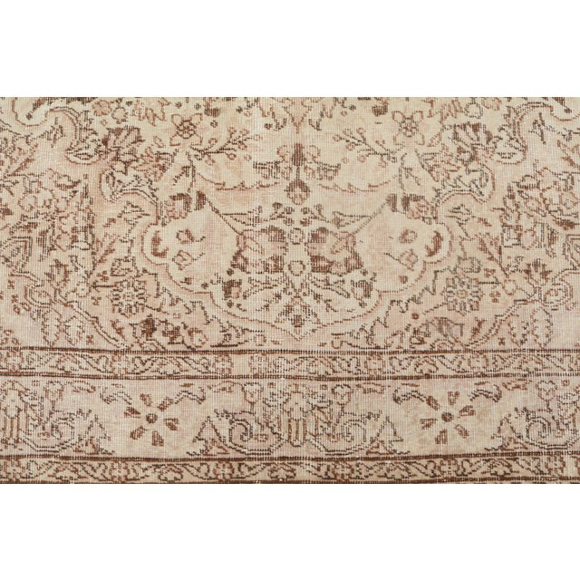 "Islamic Vintage Turkish Hand Knotted Rug - 9'10"" x 6'4"" For Sale - Image 3 of 5"
