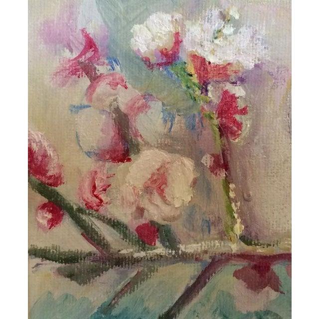 Nancy T. Van Ness Bird on Branch Oil Painting Print - Image 9 of 10