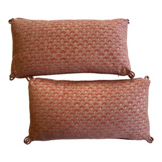 Fortuny Lumbar Pillows - a Pair For Sale