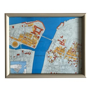 Vintage Map of Curaçao For Sale