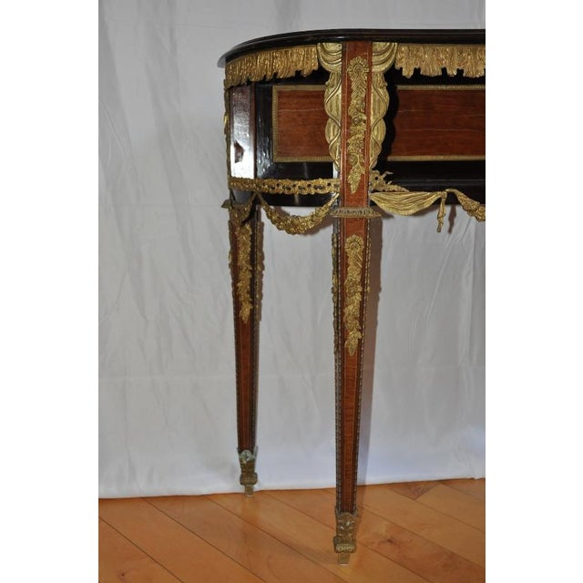 Antique Louis XVI Style Console After Design by Jean-Henri Riesener For Sale In San Francisco - Image 6 of 13
