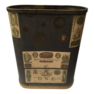 Oliver K. Whiting Decorative Mid-Century Trash Bin