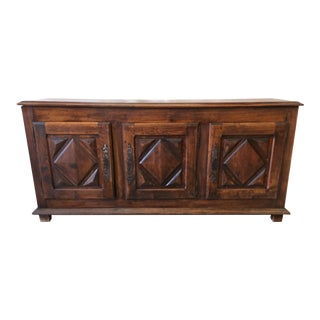 French Antique Oak Sideboard Credenza - 18th C. For Sale