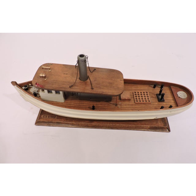 Late 20th Century Wooden Model Of A Prohibition Rum Runner For Sale - Image 5 of 7