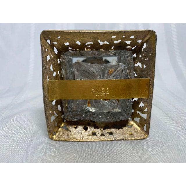 1930s Vintage Art Nouveau Goldtone & Crystal Apollo Perfume Bottle For Sale In Saint Louis - Image 6 of 9