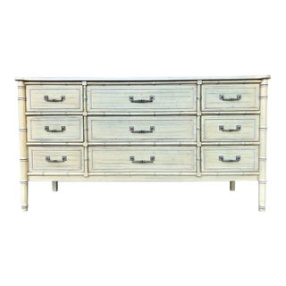 Henry Link Bali Hai Faux Bamboo Nine Drawer Dresser For Sale