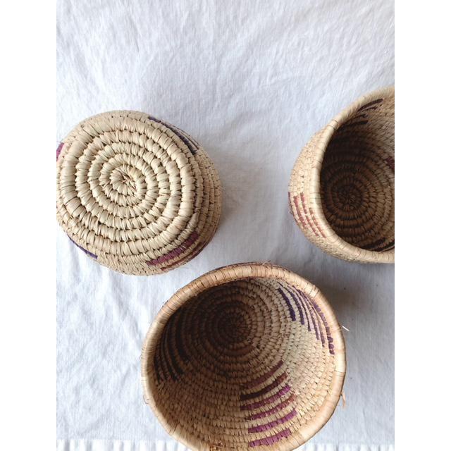 Vintage Tribal Grass Baskets - Set of 3 For Sale - Image 4 of 8