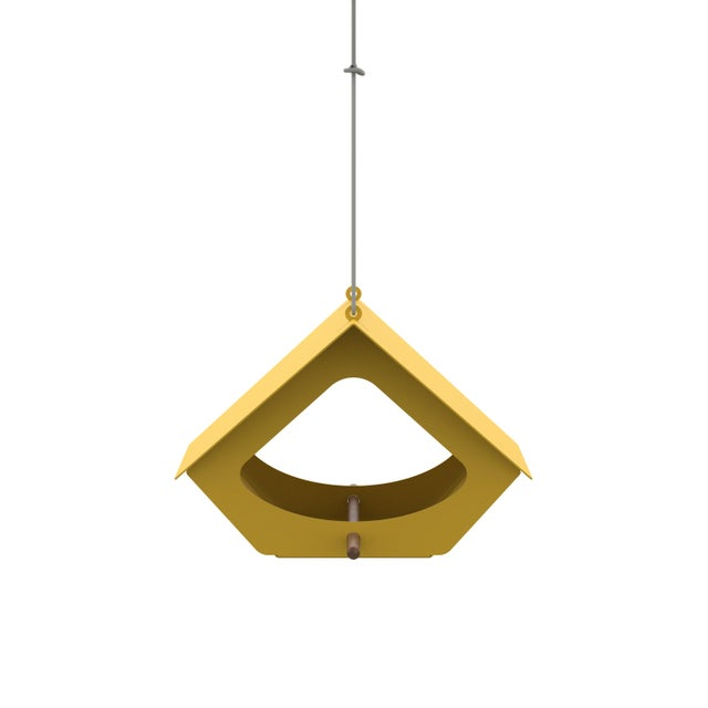 This simple aluminum bird feeder is a practical way to bring more nature into your life and make a visual statement. The...