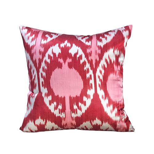 Islamic Kim Salmela Turkish Silk Ikat Square Throw Pillow For Sale - Image 3 of 3