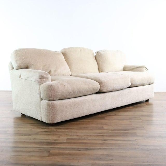 Henredon Henredon Upholstered Ivory Sofa For Sale - Image 4 of 11