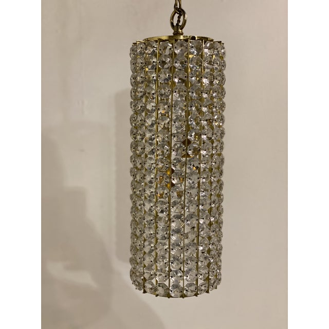 French Mid-Century Crystals Light Fixtures - a Pair For Sale - Image 3 of 7