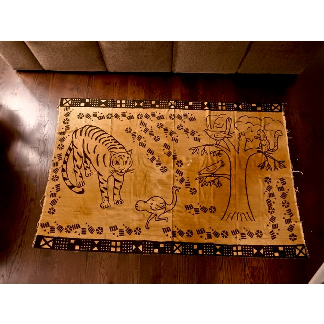 African Mud Cloth Wall Hanging or Throw - Image 2 of 6