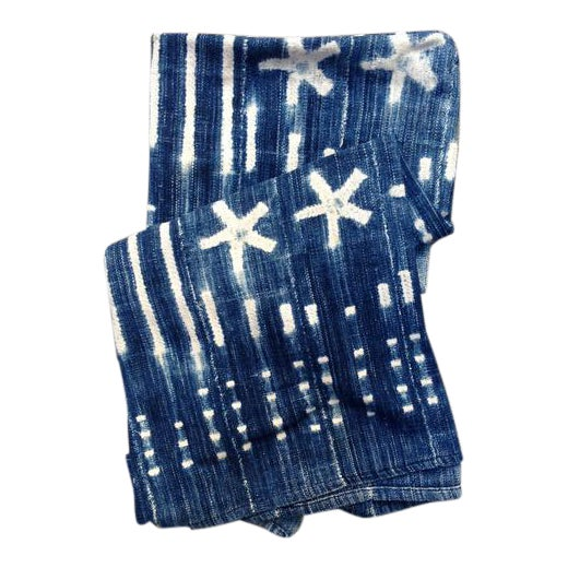 Vintage West African Indigo Throw - Image 1 of 6