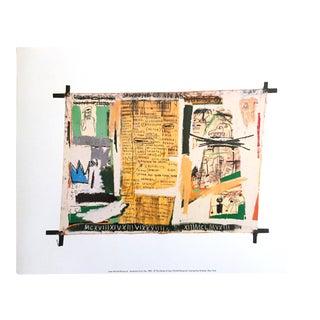 """Jean Michel Basquiat Estate Fine Art Offset Lithograph Pop Art Print """"Jawbone of an Ass"""" 1982 For Sale"""
