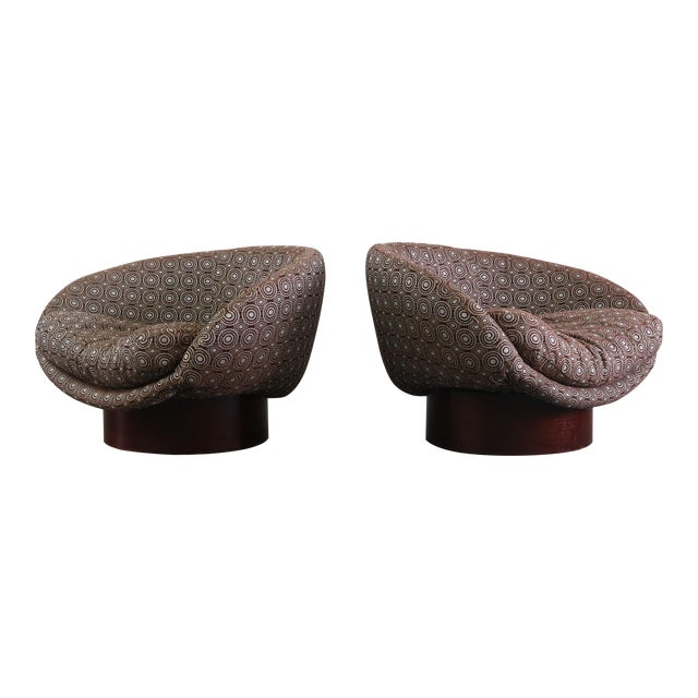 Mid-Century Adrian Pearsall Barrel Chairs- A Pair For Sale