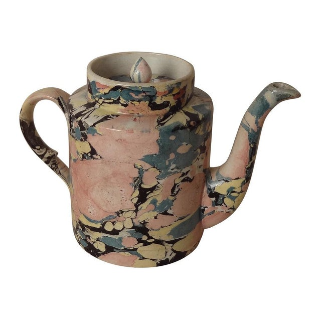 A Sarreguemines Tea Pot For Sale - Image 4 of 7