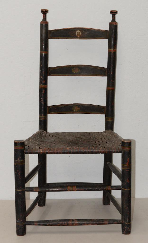19th Century Ladderback Chair For Sale   Image 9 Of 9