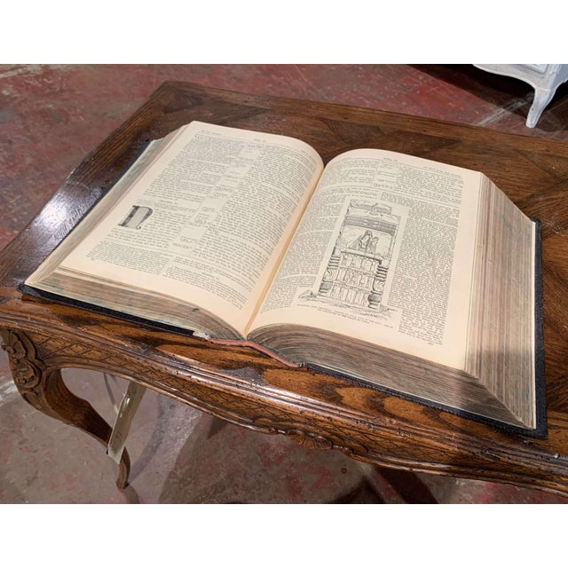 Black 19th Century English Black Leather-Bound and Gilt Tooling Holy Family Bible For Sale - Image 8 of 10