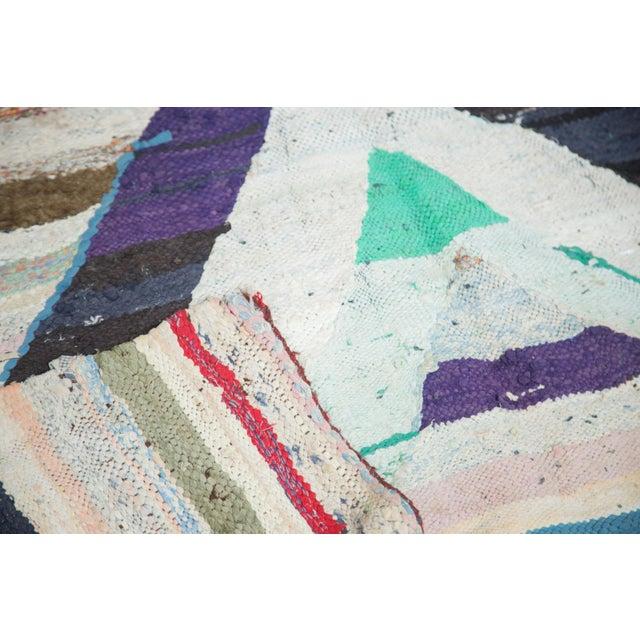 "Vintage Rag Rug Carpet - 5'1"" X 8' - Image 8 of 9"