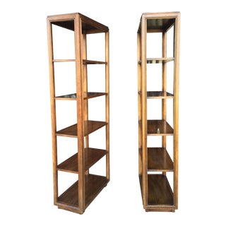 1970s Mid-Century Modern Drexel Heritage Bookcases - a Pair For Sale
