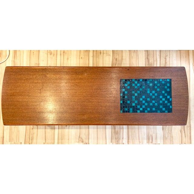 1960s 1960s Danish Modern Arne Hovmand-Olsen Teak Coffee Table With Tile Inlay For Sale - Image 5 of 13