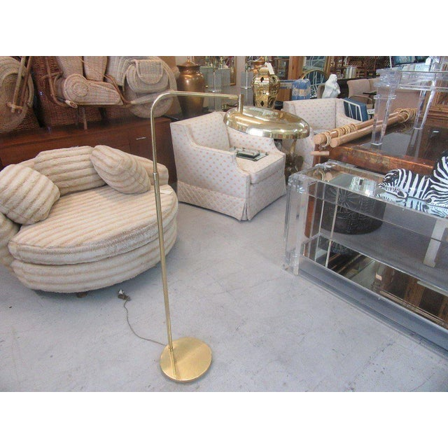 Vintage Modern Brass Floor Lamp - Image 7 of 7