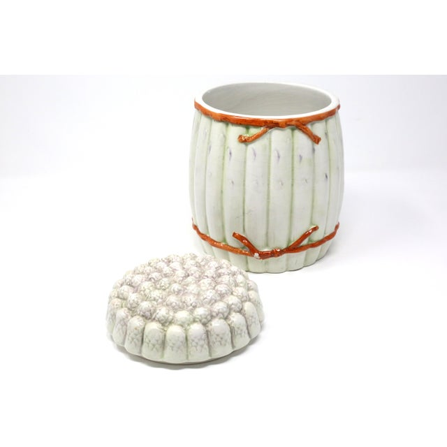 Vintage Italian White Asparagus Jar or Canister For Sale - Image 10 of 13