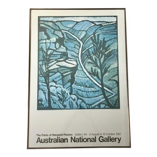1987 Framed Margaret Preston Exhibition Poster