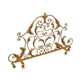 Rococo Style Gilt Metal Fire Screen For Sale