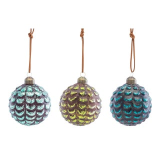 Kenneth Ludwig Chicago Pine Cone Balls - Set of 3 For Sale