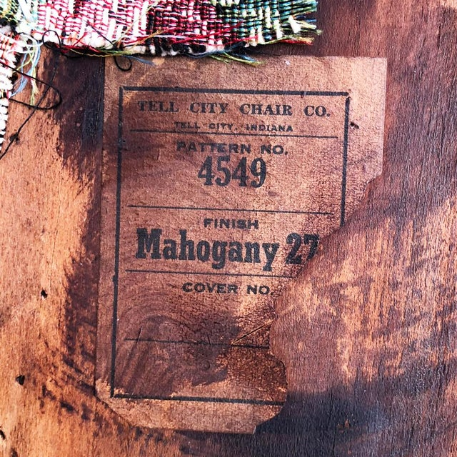 Brown Antique Tell City Chair Co. Mahogany Country Dining Chairs - Set of 6 For Sale - Image 8 of 10