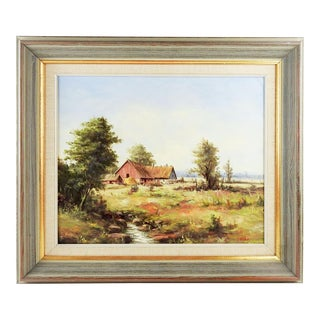 Swedish Pastoral Landscape Painting For Sale