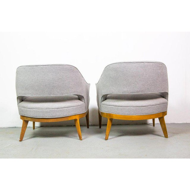 Harvey Probber Chic Pair of Lounge Chairs by Harvey Probber For Sale - Image 4 of 7