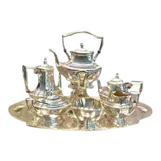 C. 1940 American Sterling Tea Service For Sale