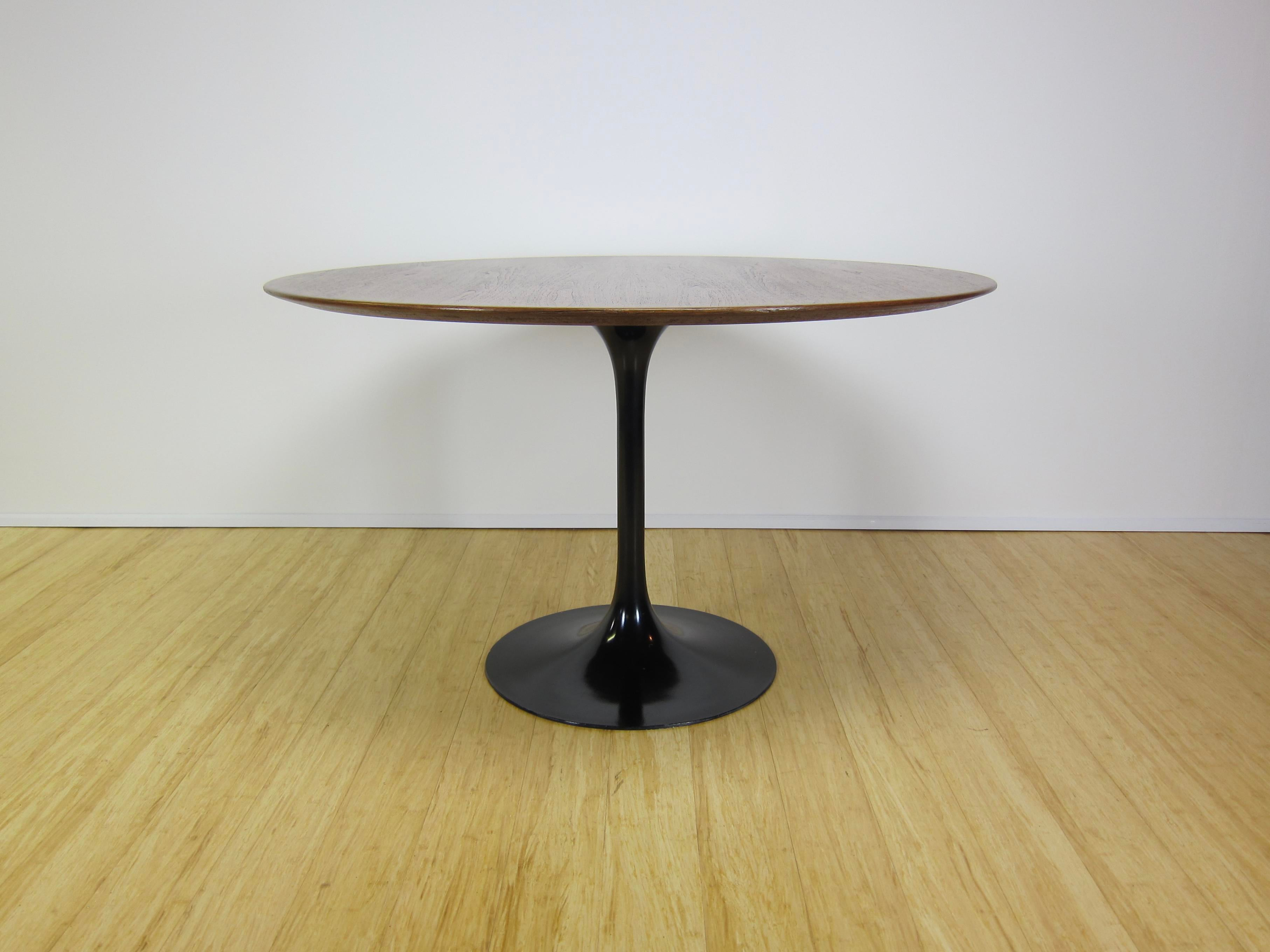 Mid Century Modern Mid Century Modern Eero Saarinen For Knoll International  Walnut Tulip Table