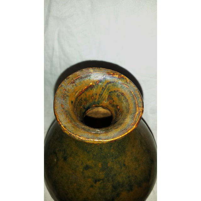 Early 21st Century Antique Caramel-Glaze Chinese Clay Wine Saki Decanter For Sale - Image 5 of 7