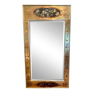 Vintage Labarge Eglomise Chinoiserie Mirror For Sale