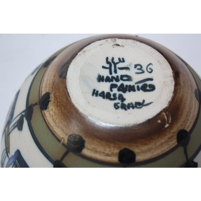 Vintage Israeli Hand-Painted Ceramic Bowl by Azaz (עזז) for Harsa Be'er Sheva For Sale - Image 9 of 10