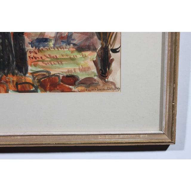 """""""Bending Palm"""" Original Watercolor - Image 3 of 3"""