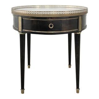 Napoleon III Period Ebonized Marble Top Gueridon - Lamp Table For Sale