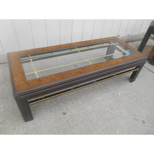 Mid-Century Modern Milo Baughman Style Coffee/ End Table Set - 2 Pc. For Sale - Image 6 of 11
