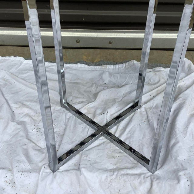 1970s Midcentury Modern Rosewood & Chrome Drinks Table For Sale - Image 5 of 11