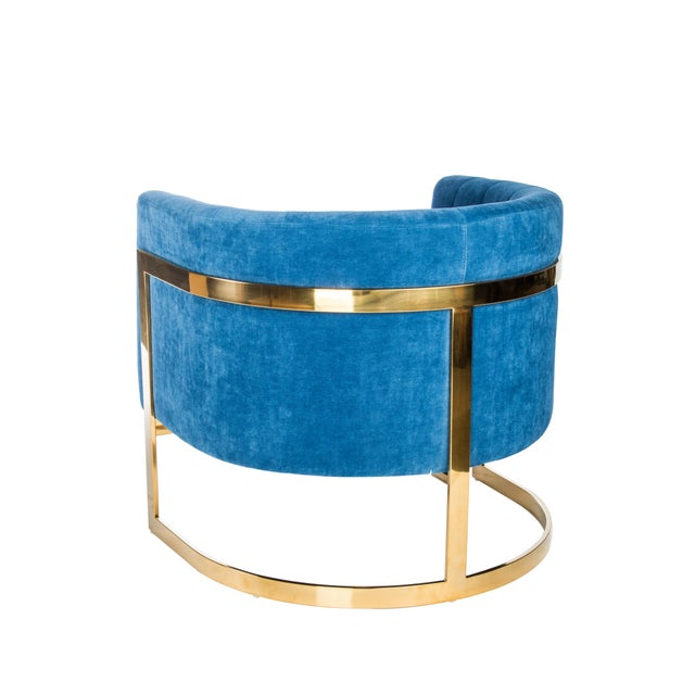 Mica Gold Club Chair - Image 2 of 2