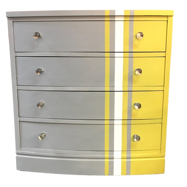 Grey & White Striped Chest of Drawers - Image 2 of 6
