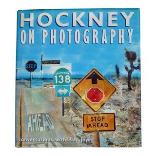1980s Hockney on Photography 1st Printing Book For Sale