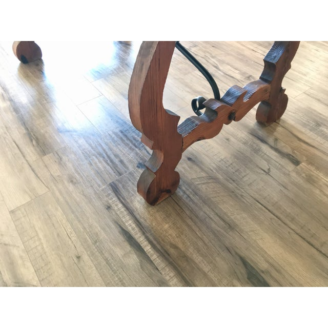 19th Century Spanish Trestle Table or Desk For Sale - Image 6 of 10