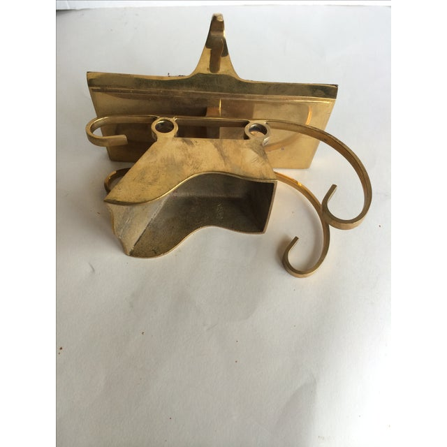 Vintage Brass Stocking Holder Sleigh - Image 6 of 6