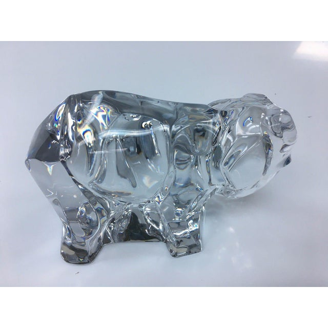 Baccarat Crystal Elephant With Baby For Sale - Image 4 of 7