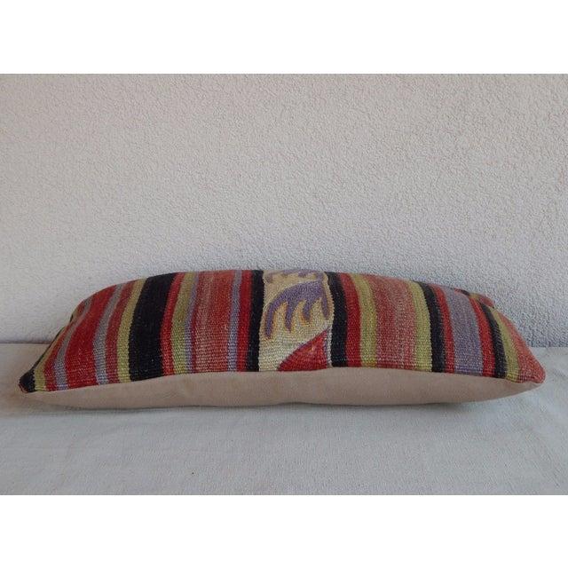 Contemporary Handmade Turkish Kilim Lumbar Pillow For Sale - Image 3 of 6
