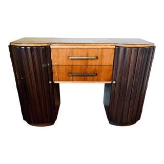 1930s Art Deco Streamline Moderne Walnut Sideboard/Bar For Sale
